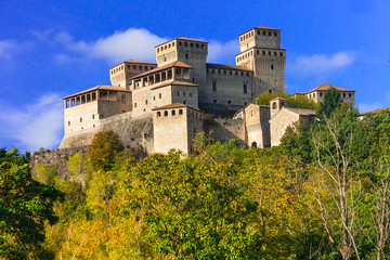 Beautiful medieval castles of Italy - Torrechiara in Emilia-Romagna