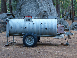 Bärenfalle auf Campingplatz in USA