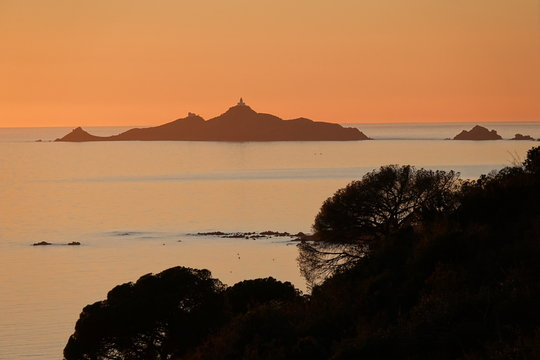 Coucher de soleil sur Les Sanguinaires, Ajaccio en Corse