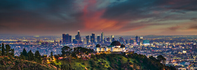 Wall Mural - Los Angeles Skyline Panorama from Griffith Park