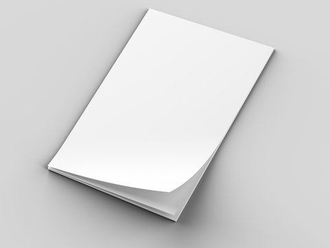 Empty paper sheets in A4 format. Ream of white paper. 3d illustration