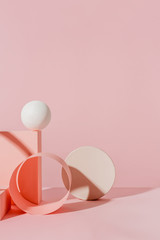 Pink abstract composition