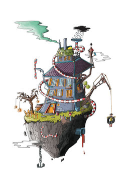 Imaginary floating house