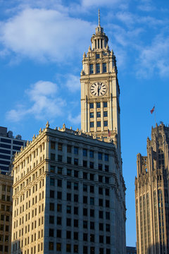 Wrigley Building along chicago River, Chicago, Illinois, United States