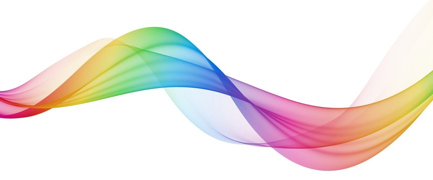 Multicolor light abstract waves design
