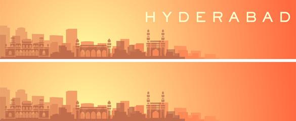 Hyderabad Beautiful Skyline Scenery Banner Fototapete