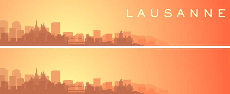 Lausanne Beautiful Skyline Scenery Banner