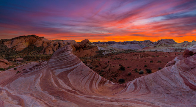 Colorful valley of fire state park, Nevada