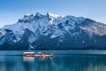 Recess Fitting Canada boat on the lake Banff Alberta Canada