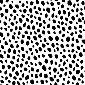 Seamless leopard and cheetah animal pattern
