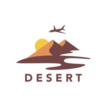 Desert logo design vector stock template