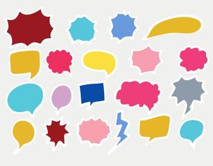 Set of bubble frames for speech in pop art style - vector illustration
