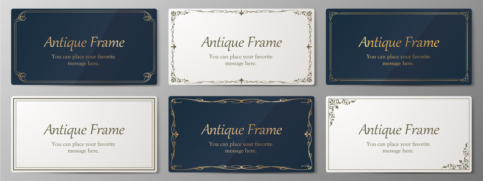 ウエディングカードデザイン、ビンテージな装飾、アンティークな線、優美な模様