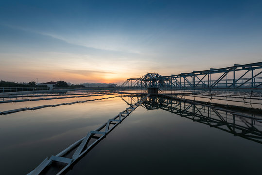 Water treatment with sunrise