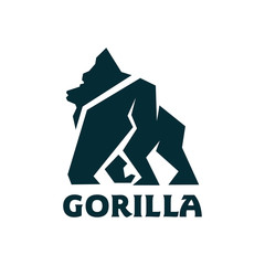 Gorilla mascot Logo Design Vector Illustration