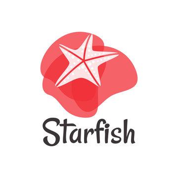starfish logo ocean modern vector illustration