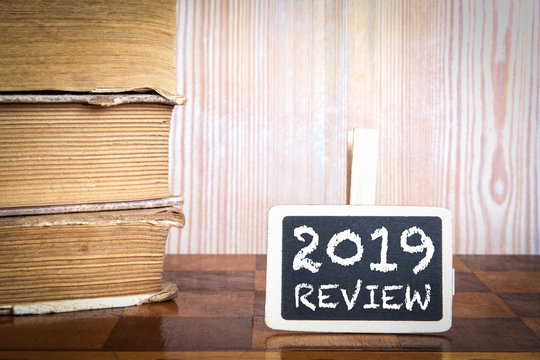 2019 review. Survey, Audit, Social Media, Marketing and Business concept