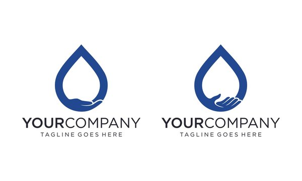 Save water for logo design vector