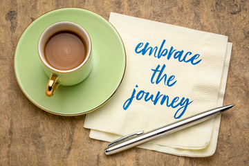 embrace the journey inspirational note