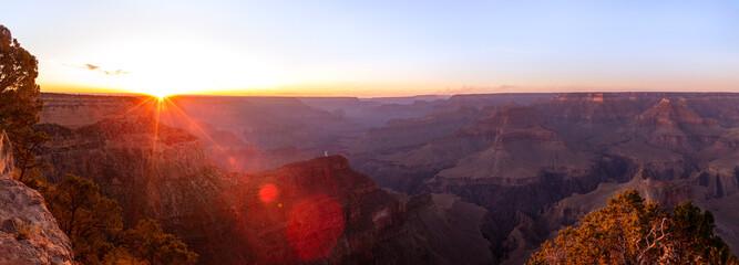 Foto auf AluDibond Braun Grand Canyon National Park Overview in Arizona