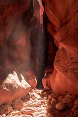 Fototapeten Rot kubanischen Buckskin Gulch Slot Canyon at Wire Pass Trail in Kanab, Utah