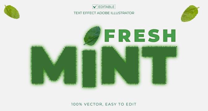 font effect design editable vector