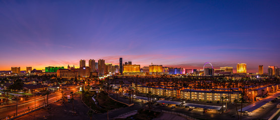 Photo sur Aluminium Las Vegas Skyline of the Casinos and Hotels of Las Vegas Strip