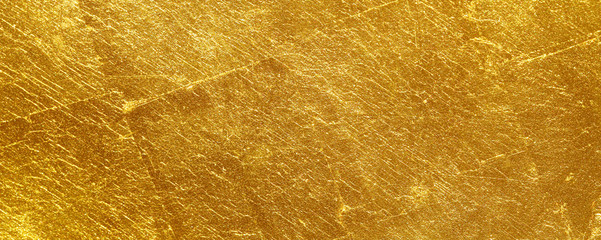 Fototapete - scratched gold texture used as background