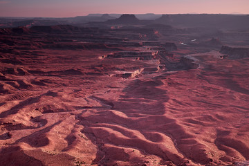 Poster Crimson View over Canyonlands National Park from the Island in the Sky unit near Moab, Utah, USA