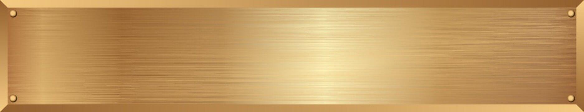 golden metallic textured long banner