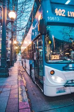 Seattle urban architecture and urban traffic roads