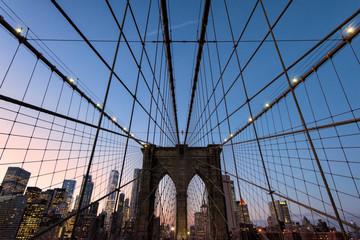 Spoed Fotobehang Brooklyn Bridge Brooklyn Bridge