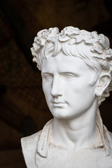 Bust of a roman emperor or important citizen, plaster reproduction