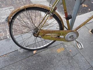 Deurstickers Fiets vintage bike parked