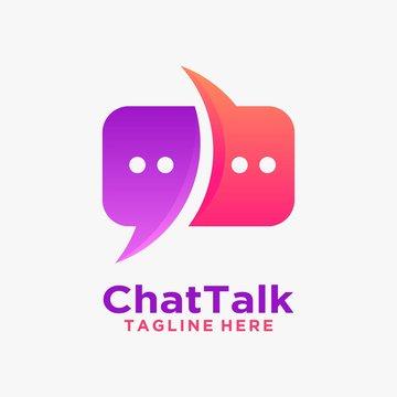 Creative chat logo design inspiration