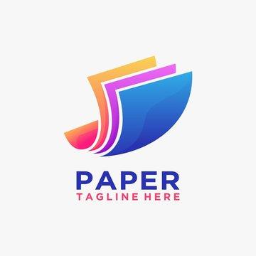 Creative paper logo design inspiration