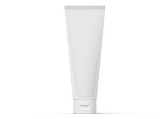 White tube of cream 3d rendering