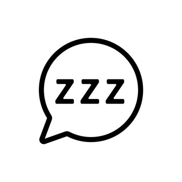 Snoring icon vector. A thin line sign. Isolated contour symbol illustration
