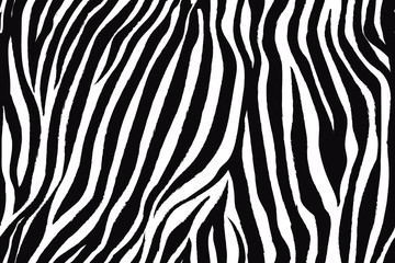 Trendy zebra animal print with black and white for fabric, wallpaper, cover, poster and other users.