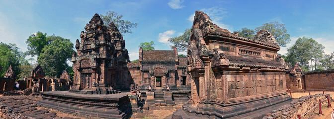 Foto auf Leinwand Kultstatte Panoramic view of Banteay Srey