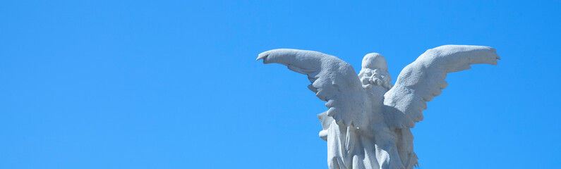 Fototapete - Guardian angel ancient statue as a symbol of strength, truth and faith.