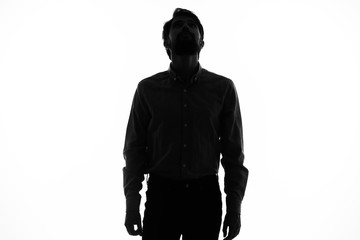 silhouette of man Wall mural