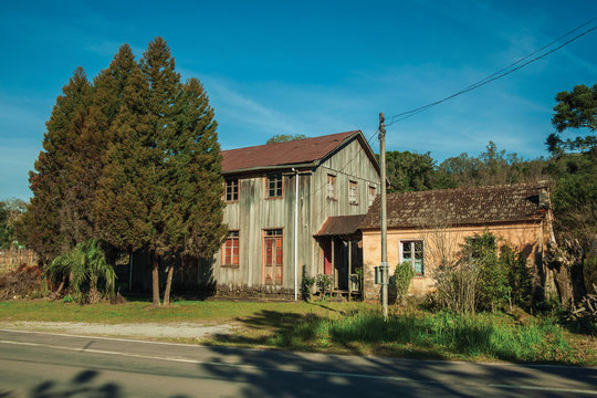Charming old wooden and masonry houses
