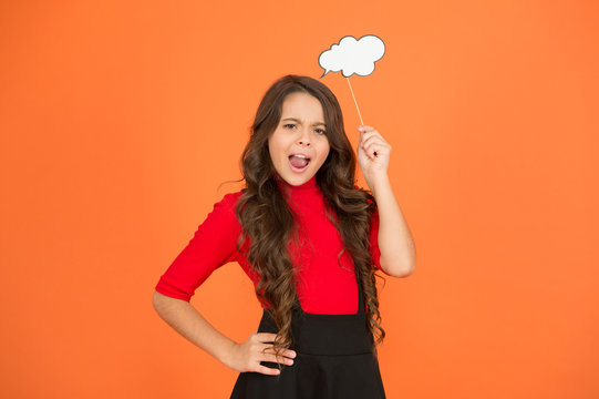 think positive. her thoughts. never know what she is thinking about. smart child with party cloud. pretty thoughtful kid long curly hair. have your opinion. whats on your mind. think of fashion