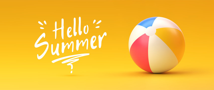 Beach ball. Summer and vacations concept
