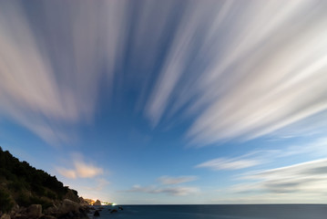 motion of clouds at long exposure Wall mural
