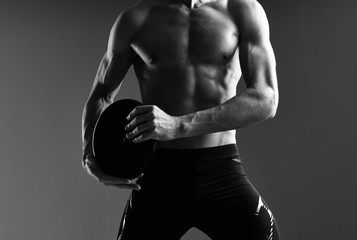muscular male torso of young man