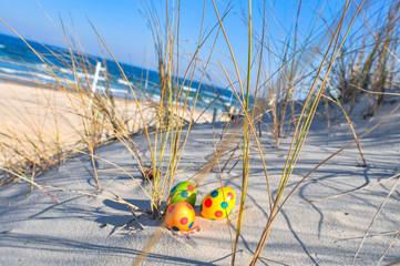 Ostereier in den Dünen, Nordstrand, Göhren auf Rügen