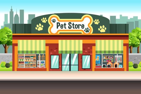 Pet Store Illustration