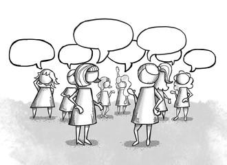 Mujeres hablando